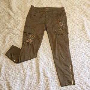 "WHBM Embroidered ""The Skinny"" Ankle Pants"